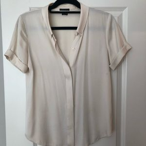Women's - Theory - off-white silk blouse